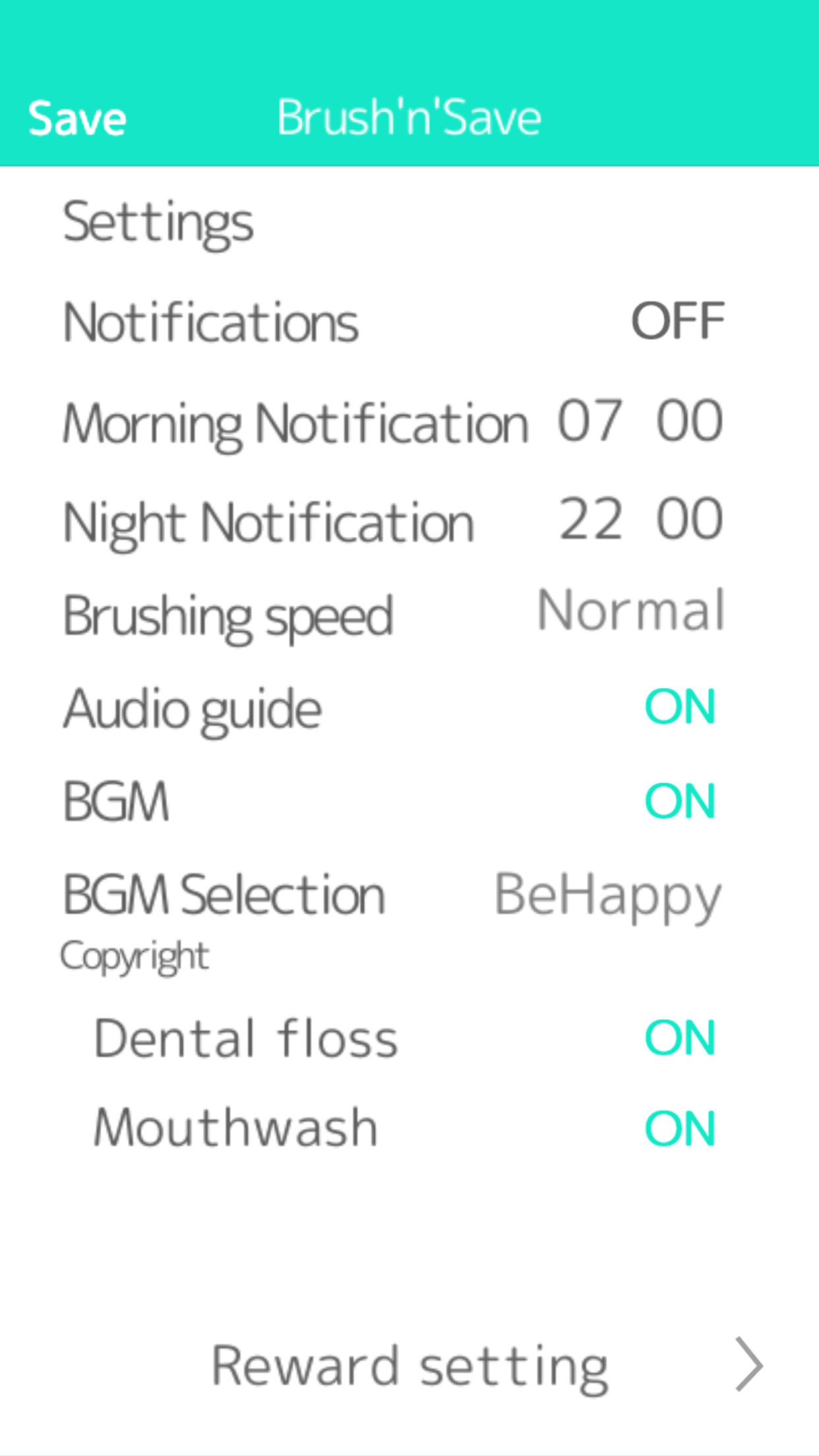 Brush'n'Save Usage/Other Settings